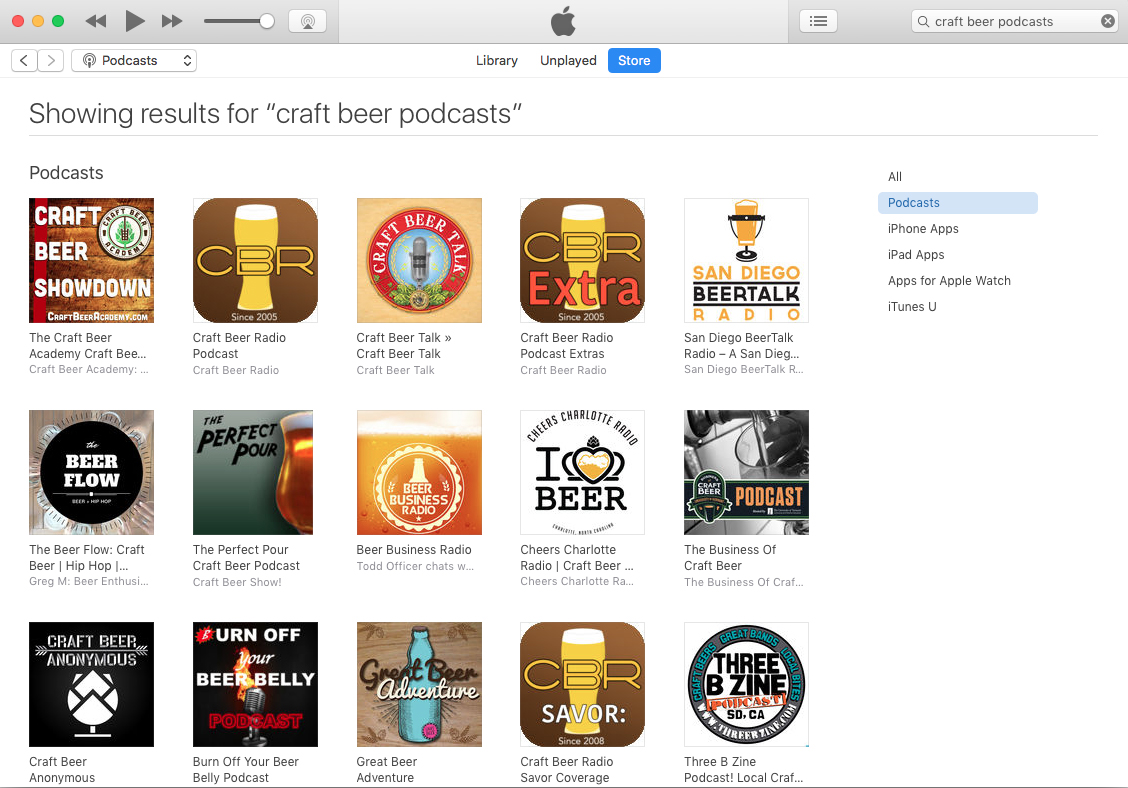 The best craft beer podcasts as of March 12, 2017.
