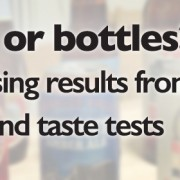 Cans or bottles surprising results from two blind taste tests.