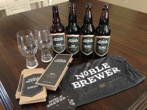 Noble Brewer sends quarterly shipments of homebrew to your door.