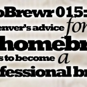 MicroBrewr 015: Randal Denver's advice for a homebrewer who wants to become a professional brewer, with Yards Brewing Company.