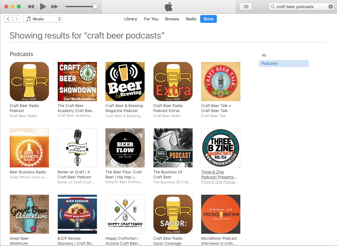 The best craft beer podcasts as of December 10, 2018.